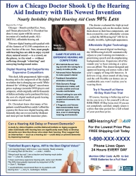 MD Hearing Ad Offers A Hearing Loss Solution