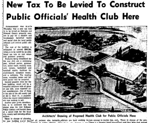 Taxes for Health Club
