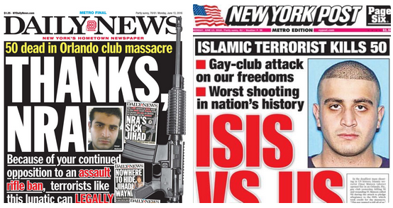 Daily News NY Post Orlando Shooting