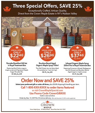 Crown Maple Holiday Ad
